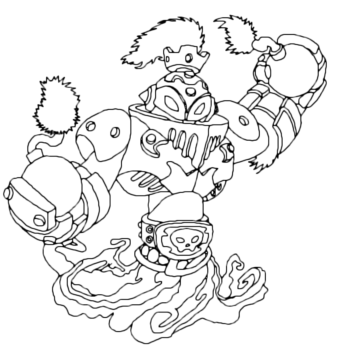 Skylanders Swap Force L Infuocato Blast Shift And The Coloring Page