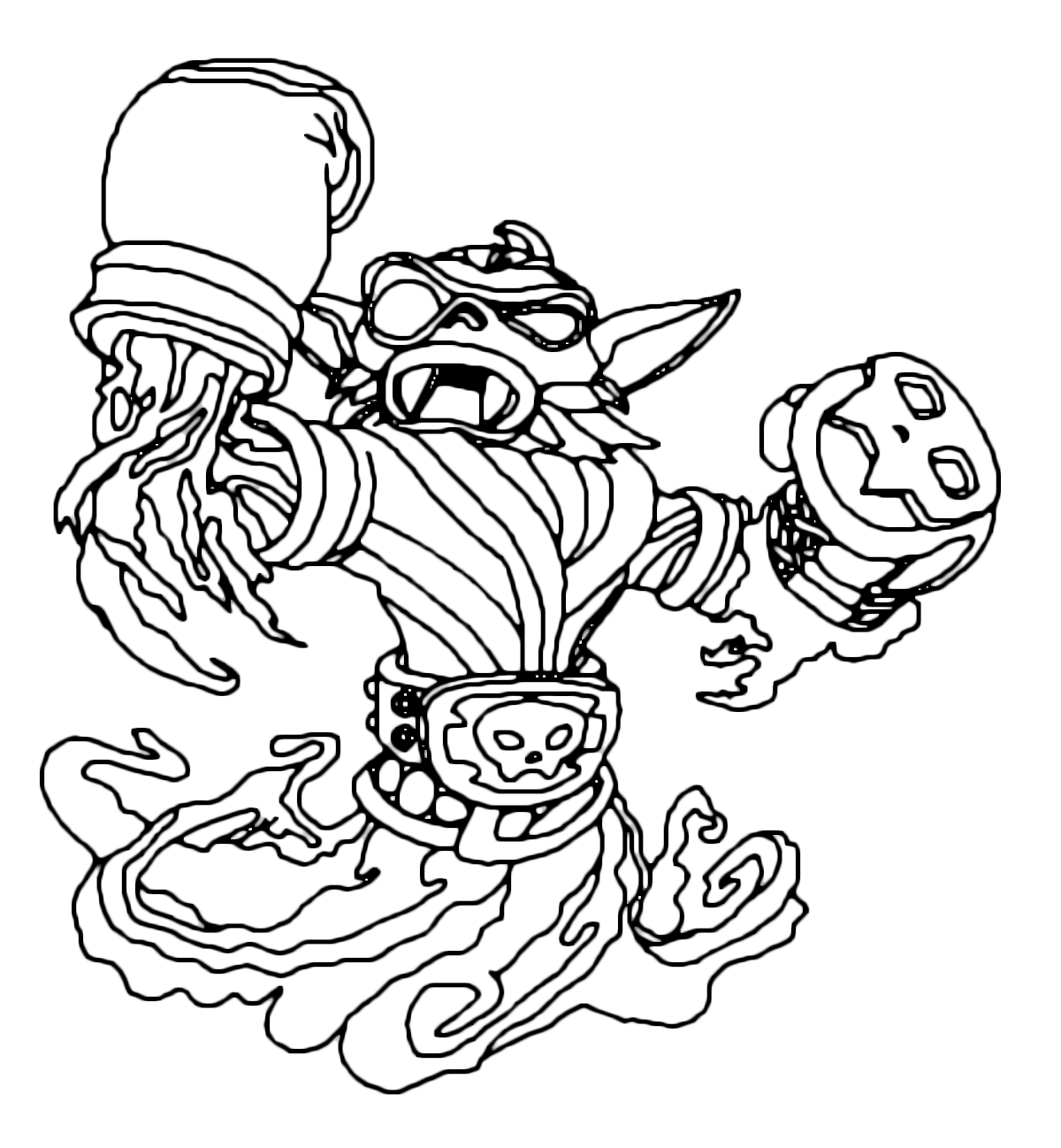 skylander wrecking ball coloring pages | Skylanders Coloring Pages Dragons Sketch Coloring Page