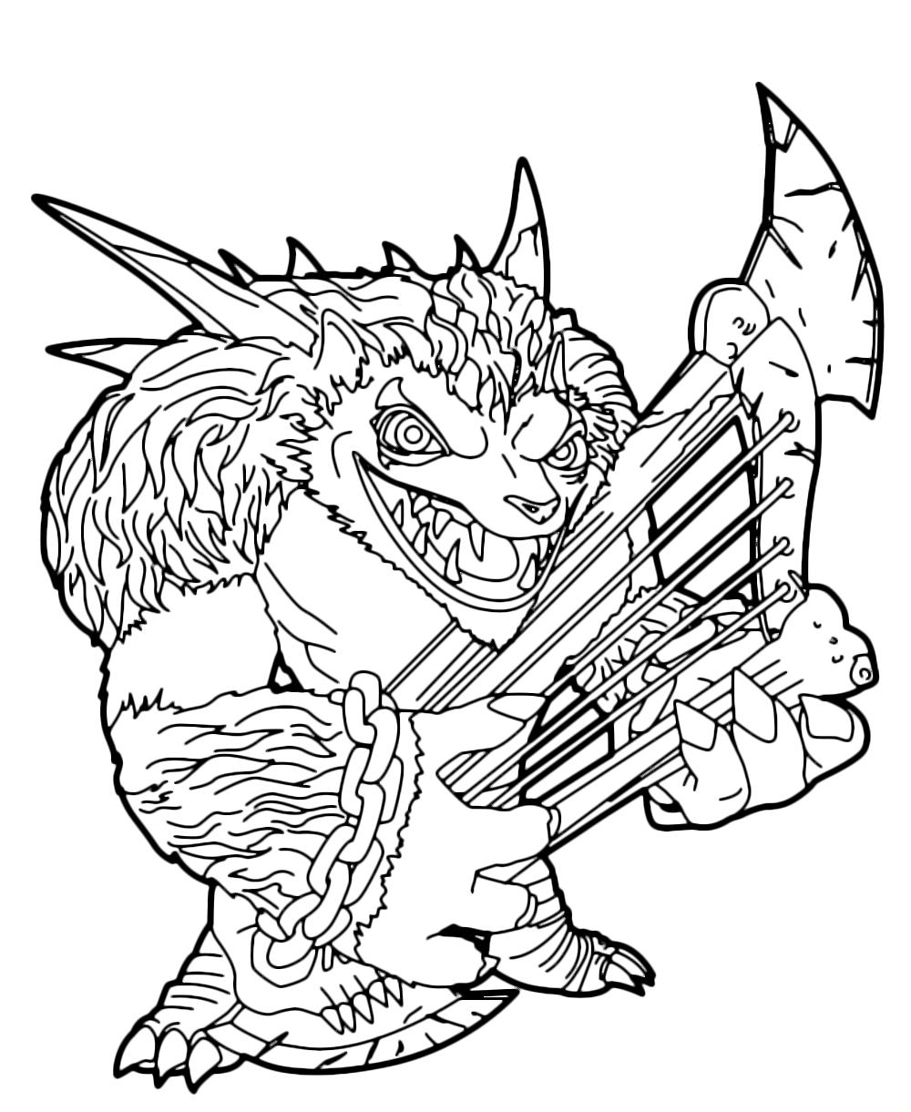Skylanders trap team wolfgang coloring pages coloring page for Skylanders printable coloring pages