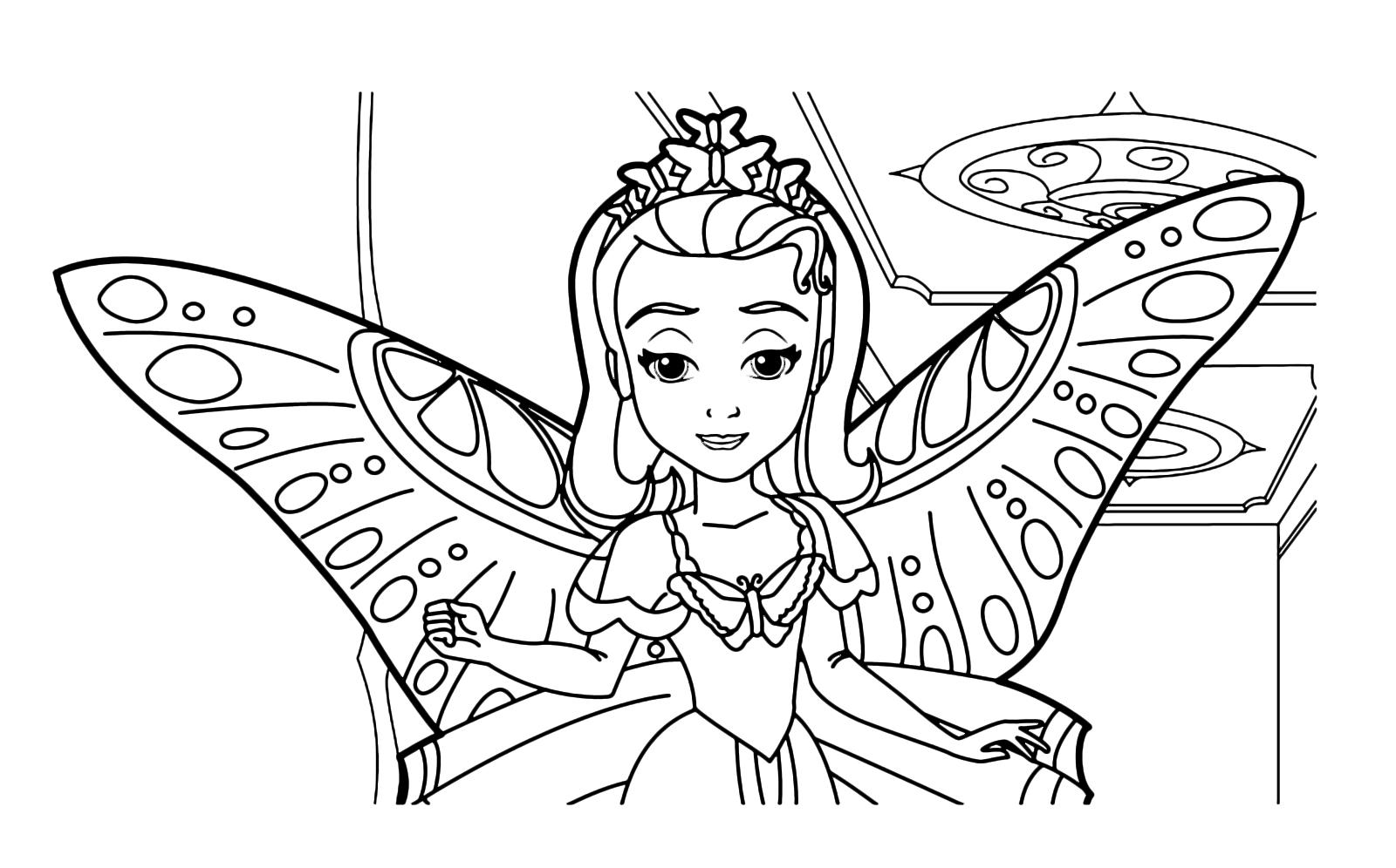 Sofia La Principessa La Principessa Amber Con Le Ali Da Farfalla