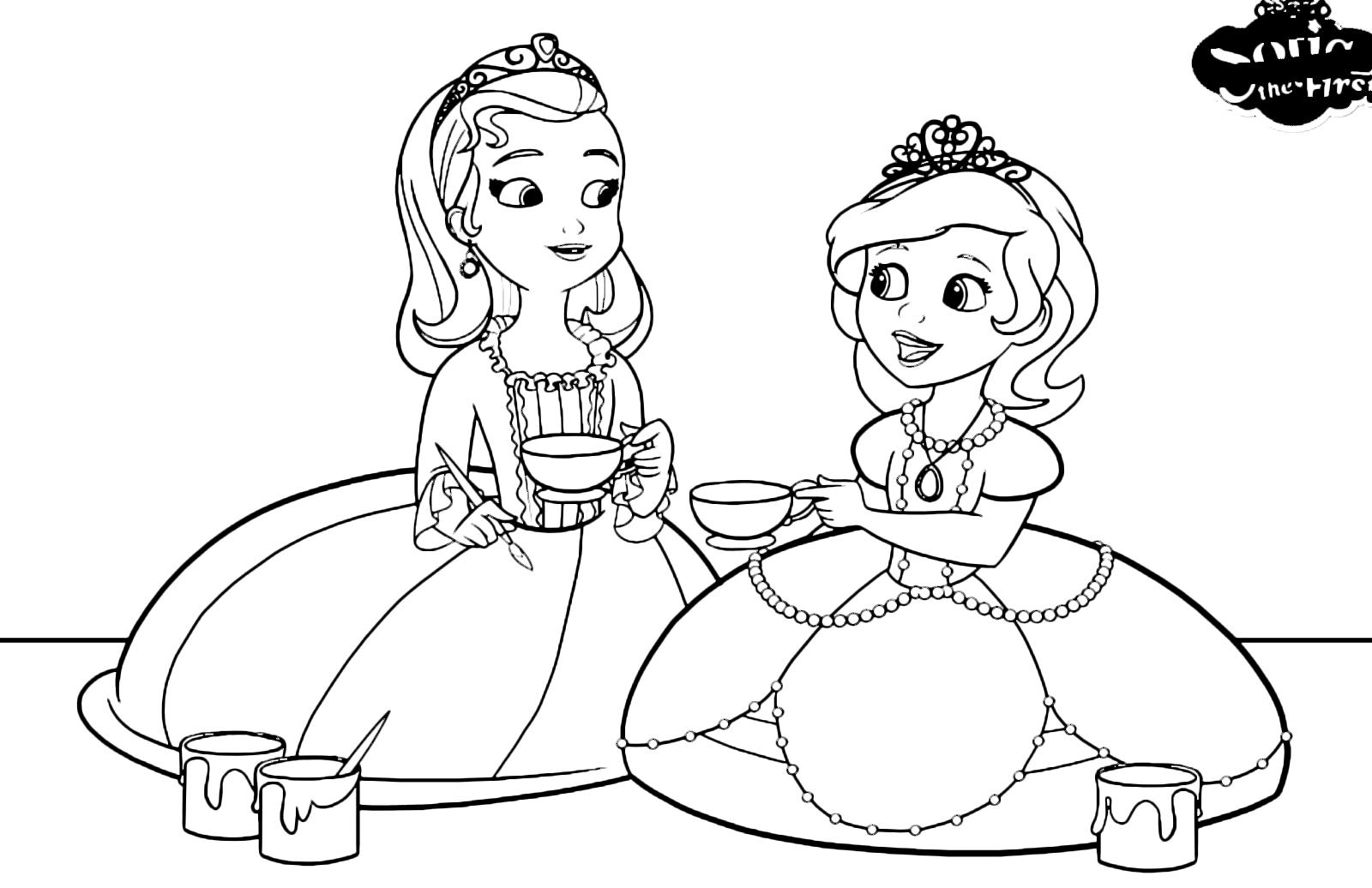 Sofia La Principessa Sofia Dipinge Le Tazze Con La Sua Sorella Amber