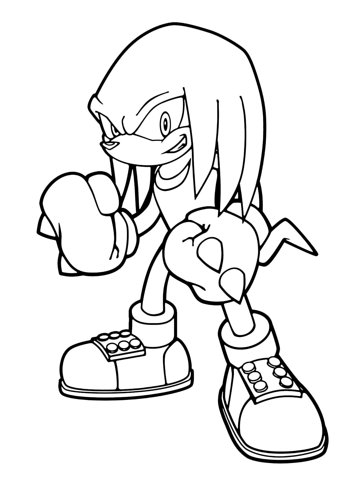 Sonic boom knuckles the echidna con i suoi pugni spinosi for Sonic and knuckles coloring pages
