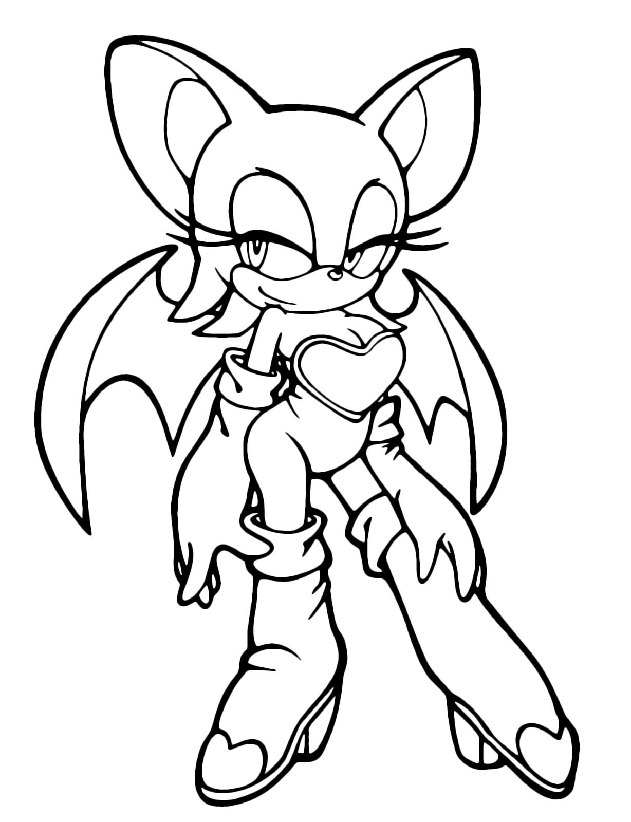 Kirbi Kleurplaat Sonic Boom Rouge The Bat Con Le Ali Semiaperte