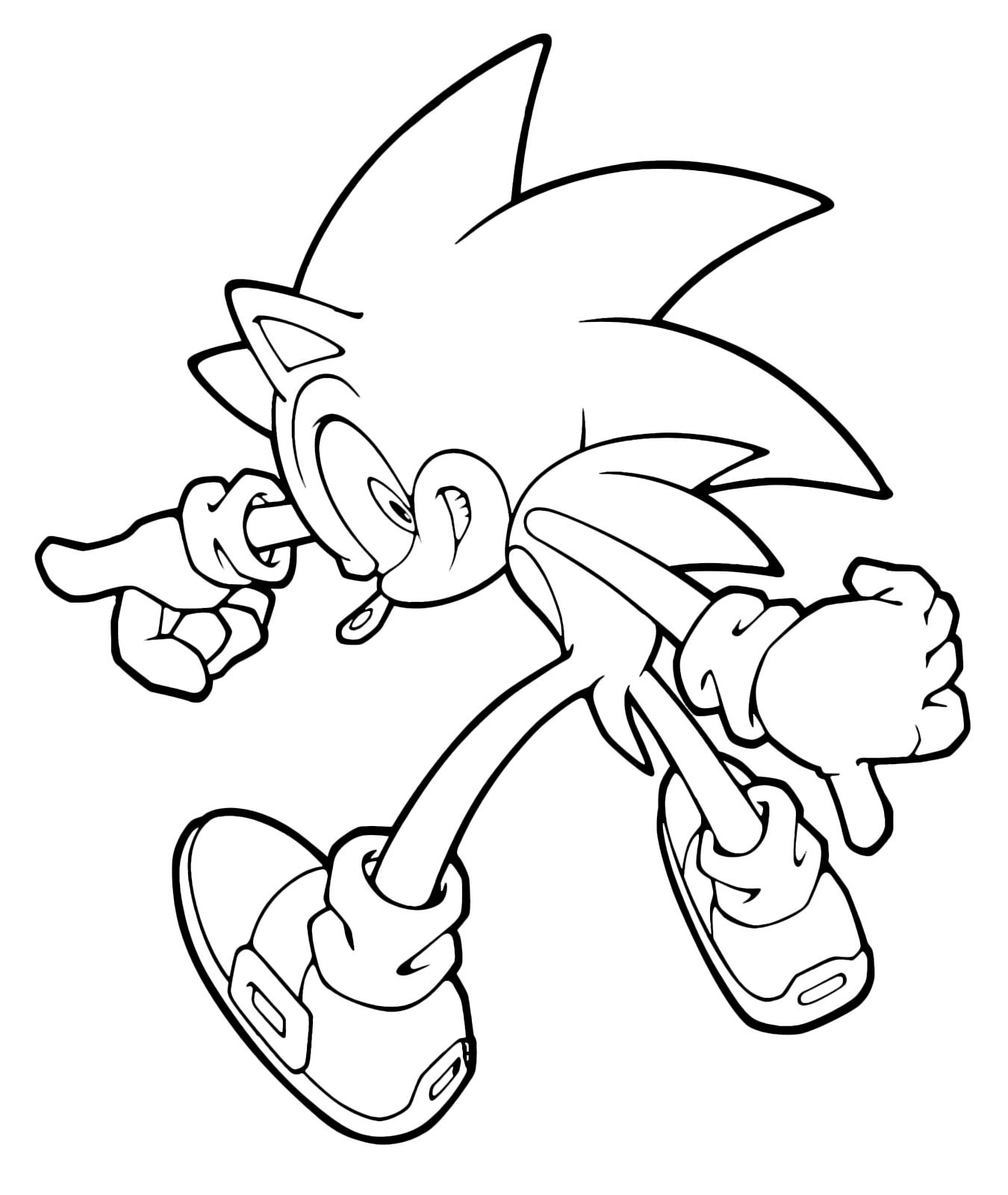 Sonic boom sonic assume un 39 espressione perfida - Immagini da colorare di rose ...