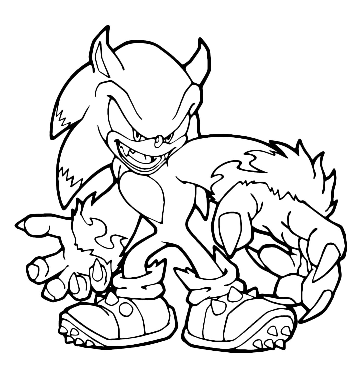 Sonic Boom Sonic Trasformato In Werehog