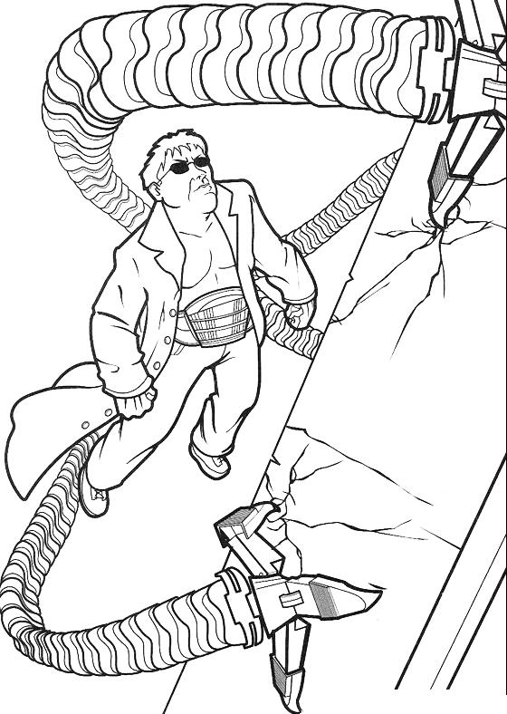 Spiderman dottor octopus usa i suoi tentacoli for Spiderman da colorare pdf