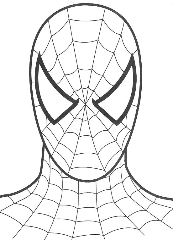 Spiderman il volto di spiderman for Spiderman da colorare pdf