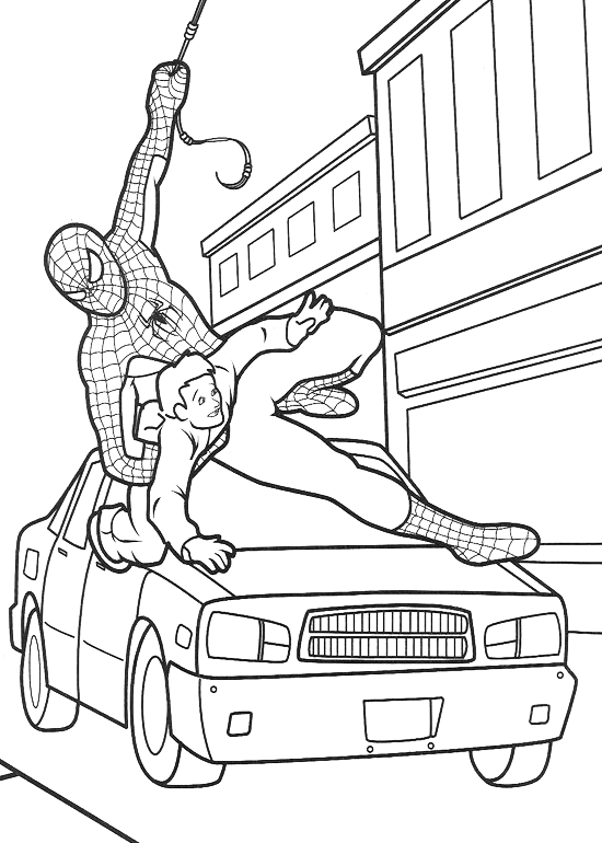 Spiderman - Spiderman in aiuto di un uomo