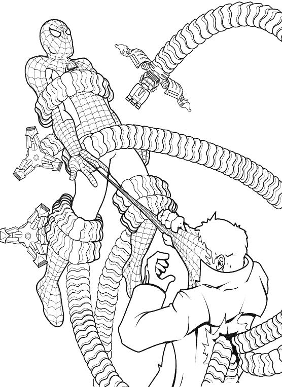 Spiderman spiderman intrappolato dal dr octopus for Spiderman da colorare on line