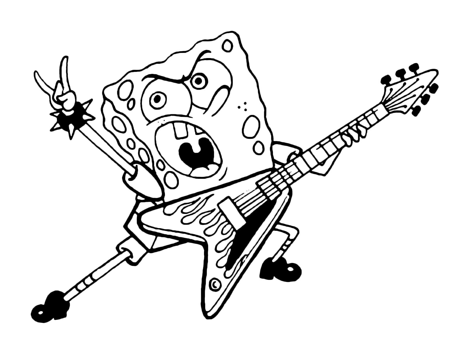 Spongebob Spongebob Suona La Chitarra Elettrica Come Un