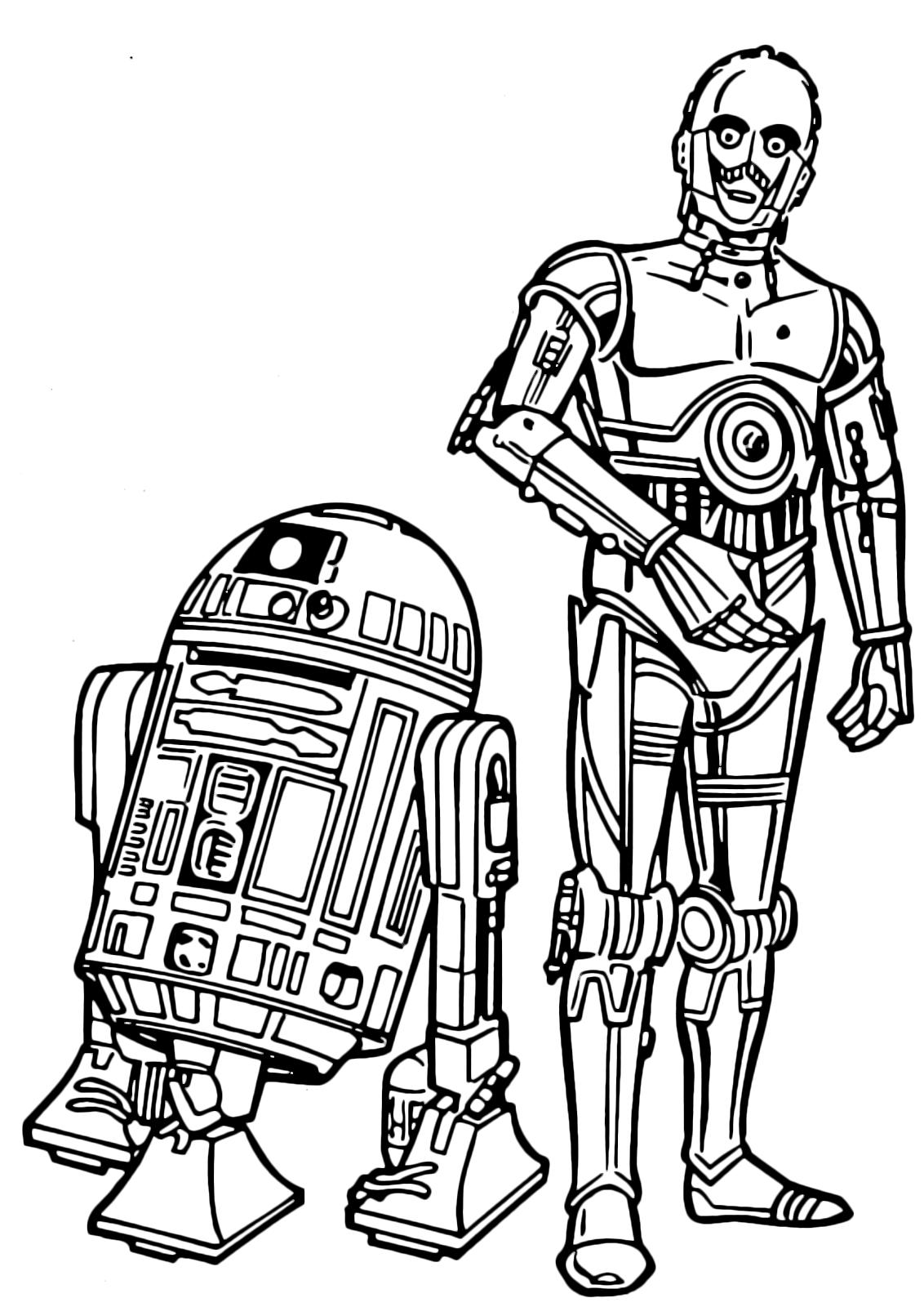 Star Wars - C-3PO e l'amico inseparabile C1-P8 Lego Star Wars R2d2 Coloring Pages