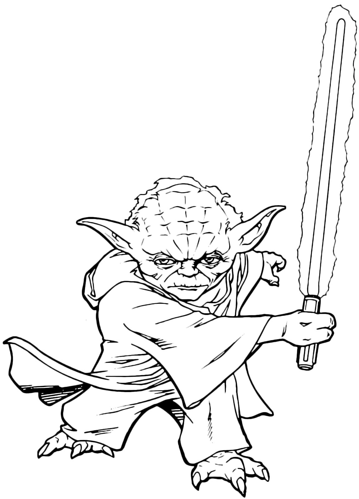 Star Wars Il Maestro Jedi Yoda Pronto A Combattere Con La Sua