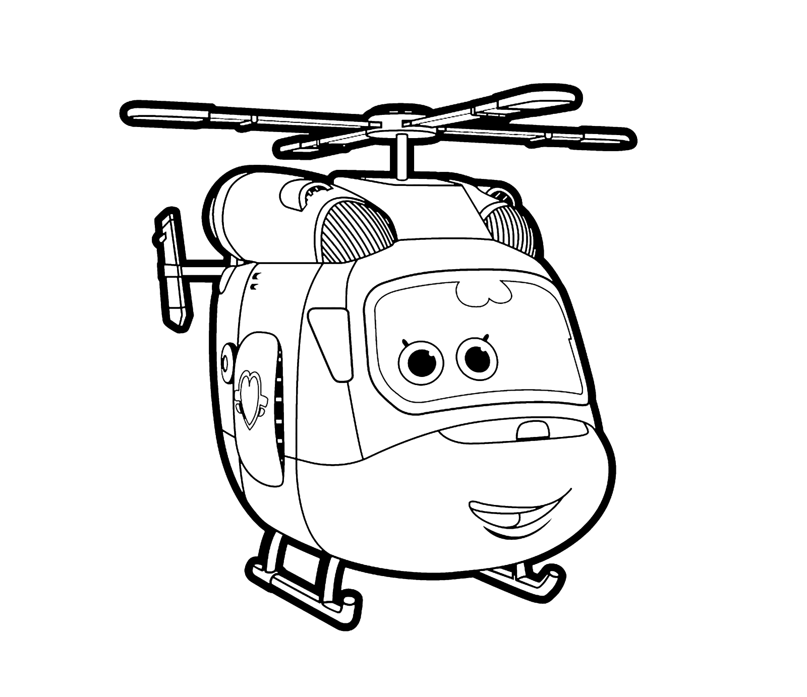Super wings dizzy l 39 elicotterina pronta a decollare for Disegni da colorare super wings