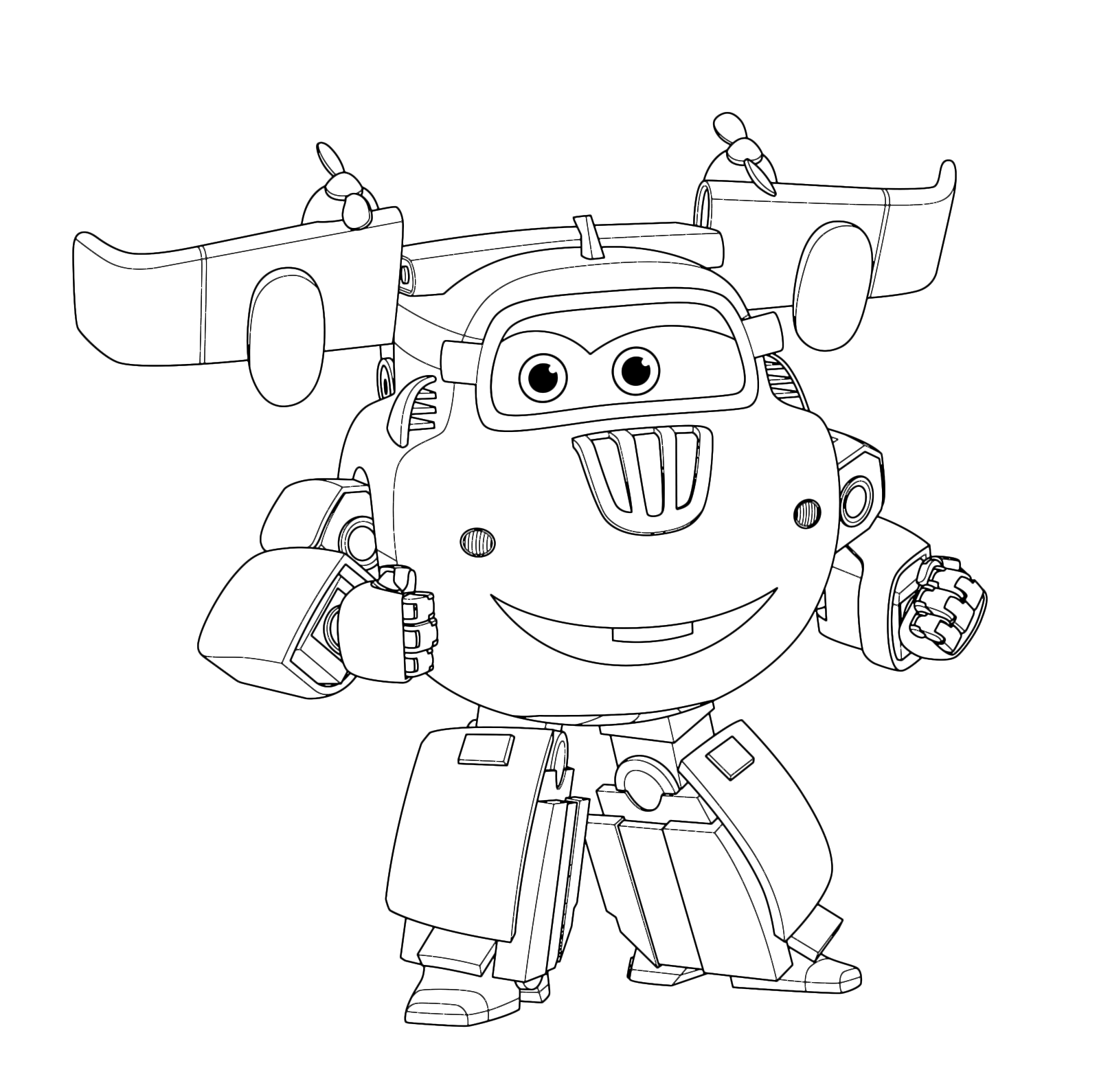 Super wings donnie pronto per aiutare jett for Disegni da colorare super wings