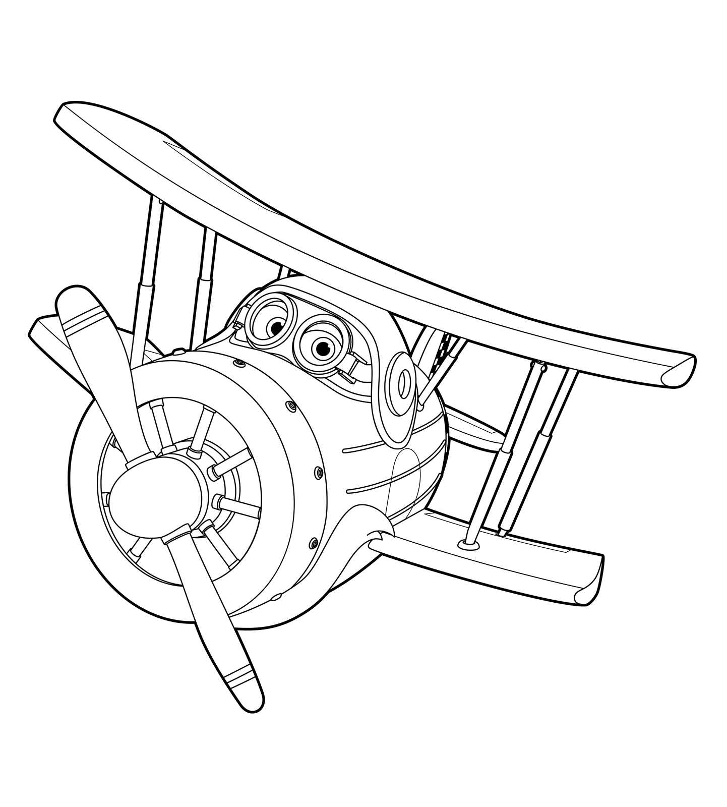 Super wings grand albert in volo for Disegni da colorare super wings