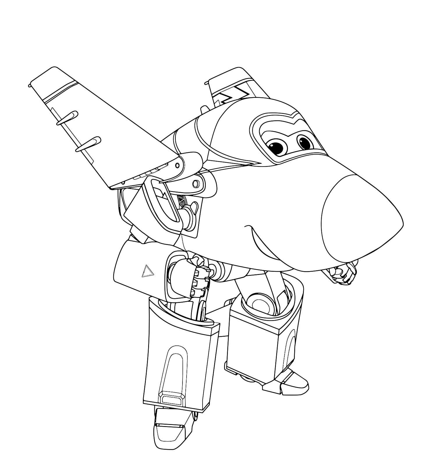 Super wings jerome pronto per una acrobazia for Disegni da colorare super wings