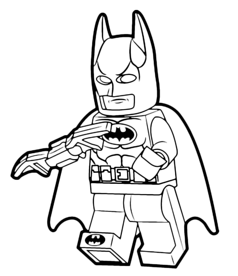 The lego movie batman con la sua arma for Disegni spiderman da colorare gratis