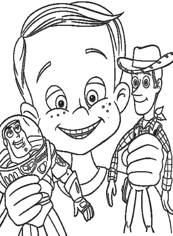 Toy Story - Andy gioca con Woody e Buzz Lightyear