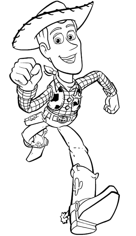 Toy Story - Woody corre
