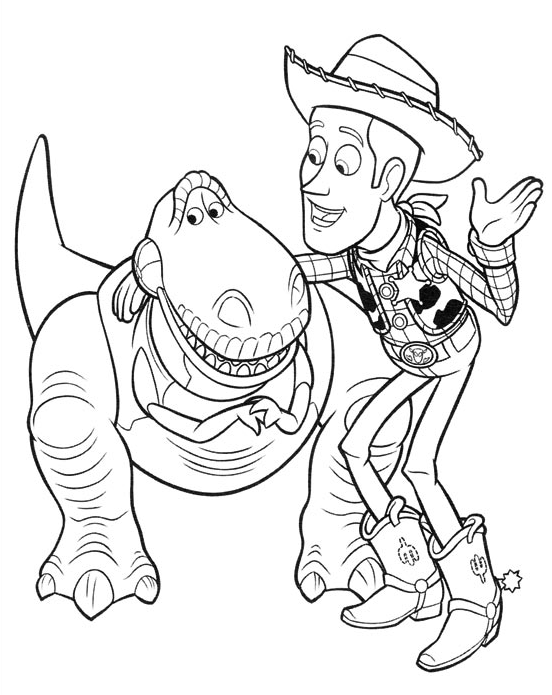 Toy Story - Woody parle con Rex