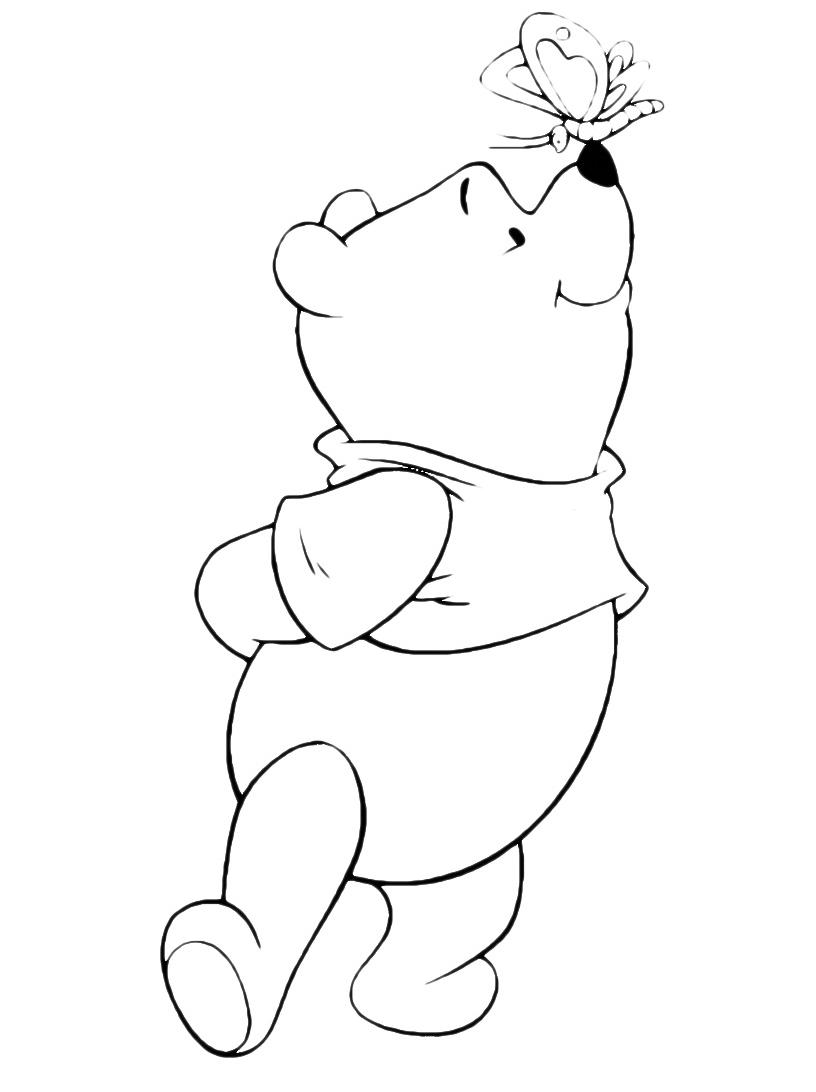 Winnie The Pooh Una Farfalla Si Posa Sul Naso Di Winnie The Pooh