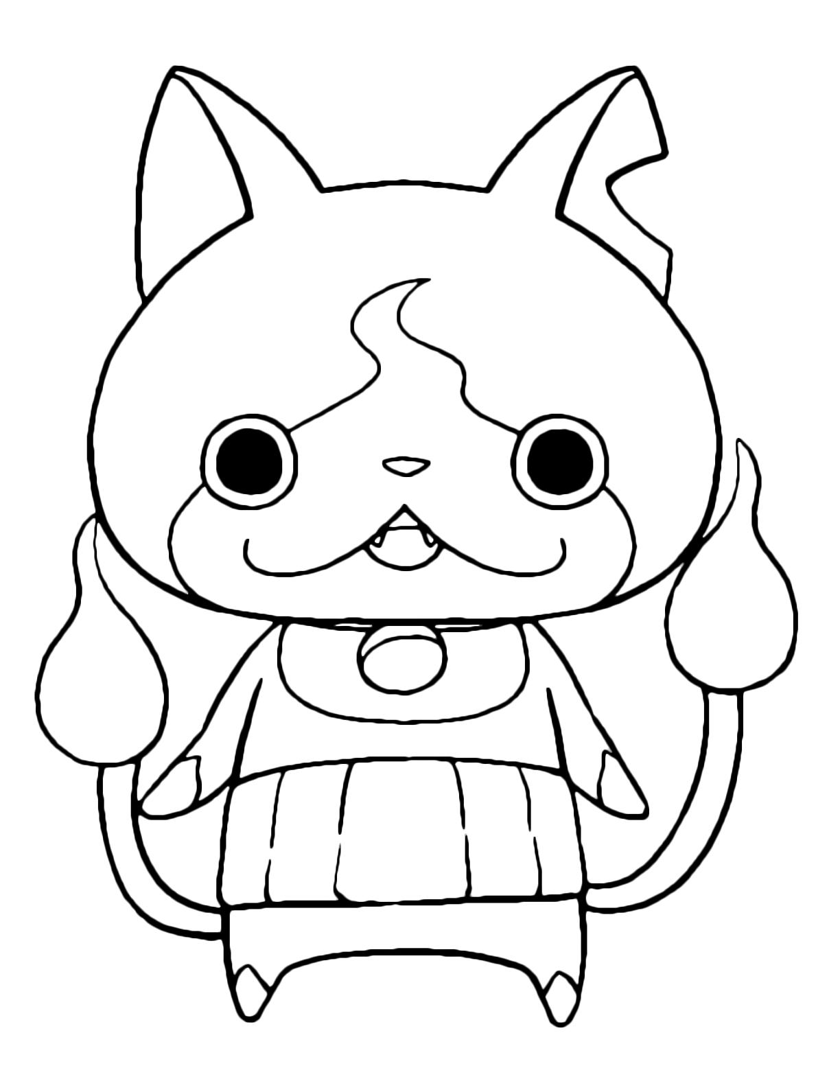 yo kai coloring pages - yo kai watch jibanyan lo yo kai di tipo gatto