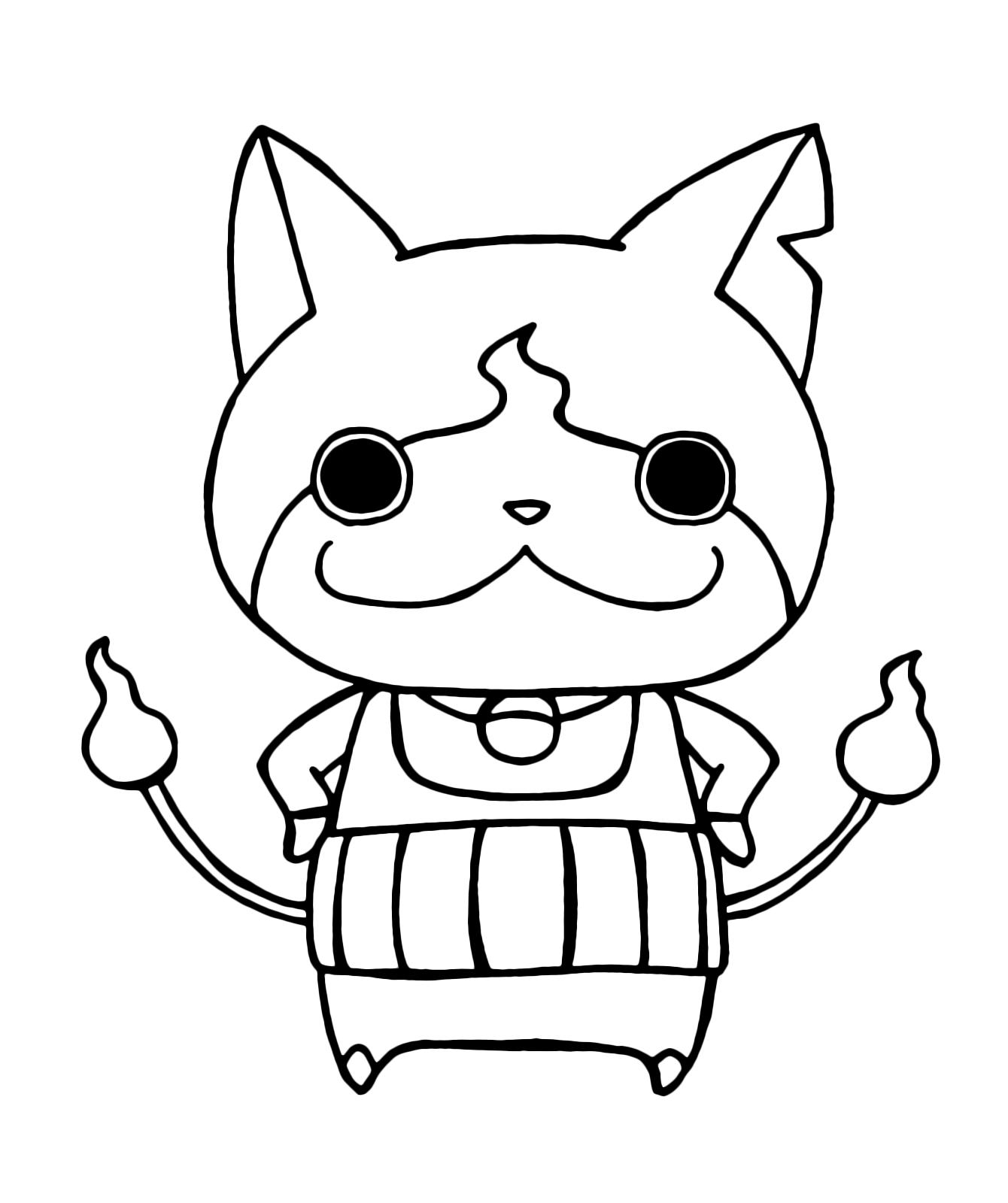 Yo Kai Watch Yo Kai Jibanyan Con La Braccia Sui Fianchi