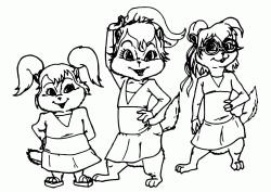 Disegni Di Alvin And The Chipmunks Da Colorare