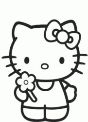 Hello Kitty con fiore