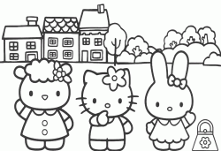 Hello Kitty con gli amici