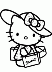 Hello Kitty con il cappello