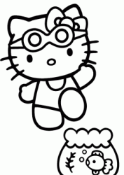 Hello Kitty e il pesciolino