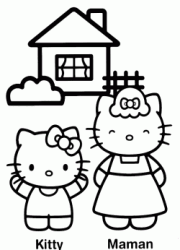 Hello Kitty e la nonna davanti alla casa