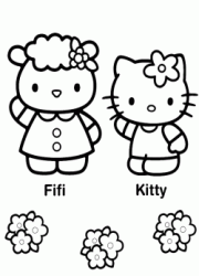 Hello Kitty e la sua amica Fifi
