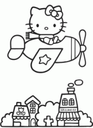 Hello Kitty in aeroplano