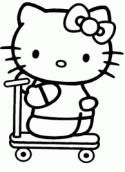 Hello Kitty sul monopattino