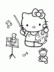 Hello Kitty suona il violino