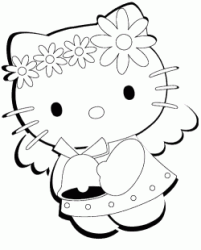 Hello Kitty vestita da angelo