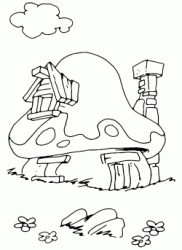 Disegni di i puffi da colorare for Disegnare la casa