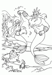 Disegni Di La Sirenetta Da Colorare