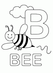 Lettera B in stampatello di bee (ape) in Inglese