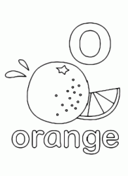 Lettera o in stampato minuscolo di orange (arancia) in Inglese