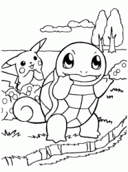 Squirtle e Pikachu
