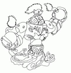 gill grunt coloring pages - disegni di skylanders da colorare