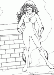black cat spiderman coloring pages - photo#21